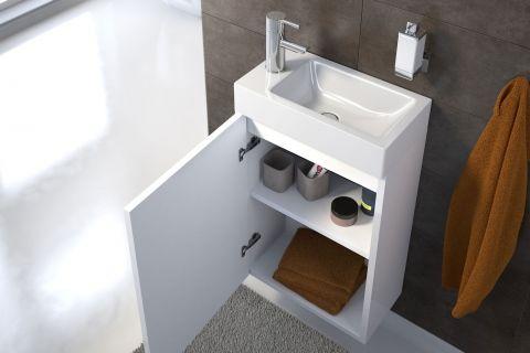 Gästewaschbecken waschplatz vita hochglanz weiß 40 cm gästewaschbecken küchen