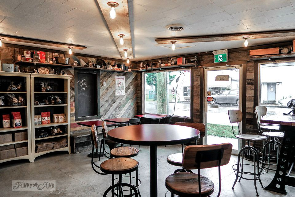 Industrial coffee shop decor you will love!