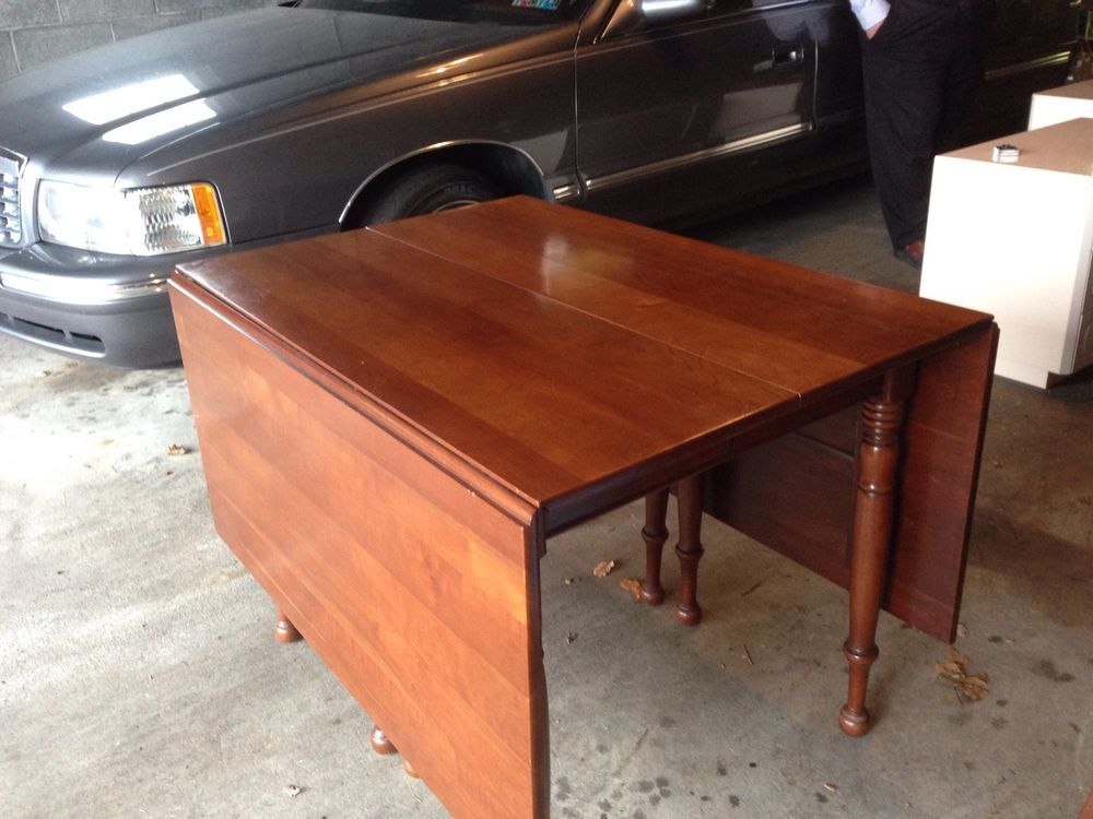 Charming Antique Cherry Drop Leaf Table/unique Furniture Makers,swing Out Gate Legs
