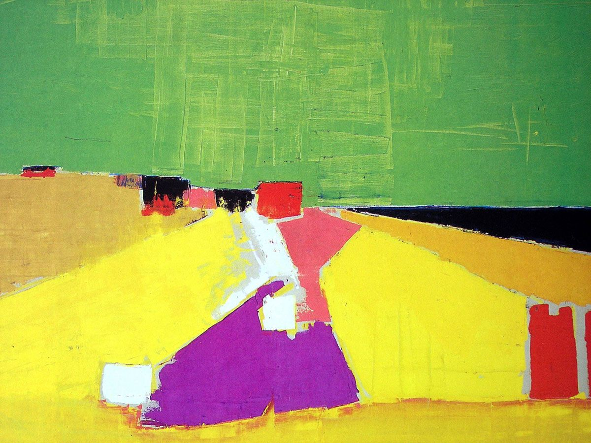Abstrakshun Nicolas De Stael Art Abstract Landscape Painting