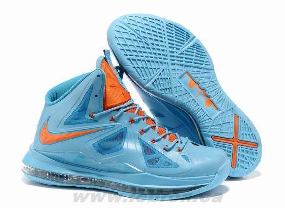 35e556f85f0 Buy Blue Orange Style Nike Lebron X 10 541100 400
