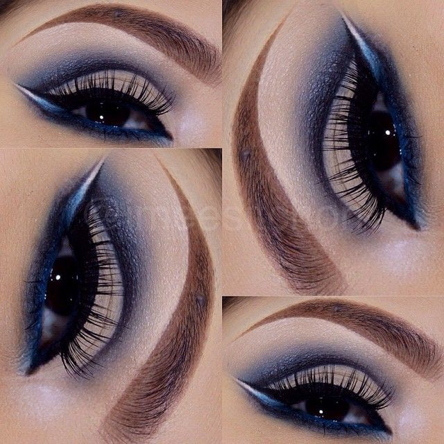 Navy Cut Crease Shadow Obsessed ♡ Beauty Makeup Eye