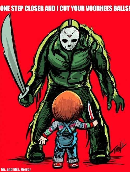 voorhees vs chucky fantasy nightmares horror chucky horror movies