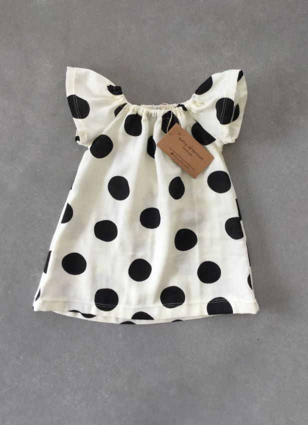 Handmade Organic Cotton Baby Dress by Sunny