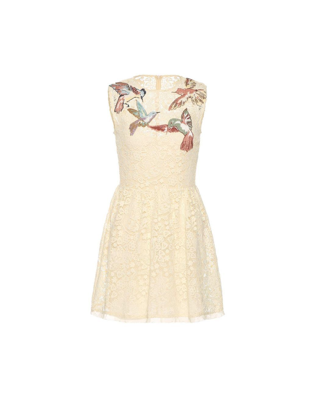 a6723736d0a6 RED Valentino | Multicolor Hummingbird Embroidered Macramé Dress | Lyst