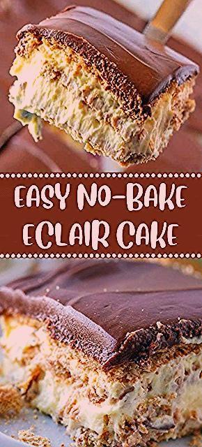 Photo of EASY NO-BAKE ECLAIR CAKE