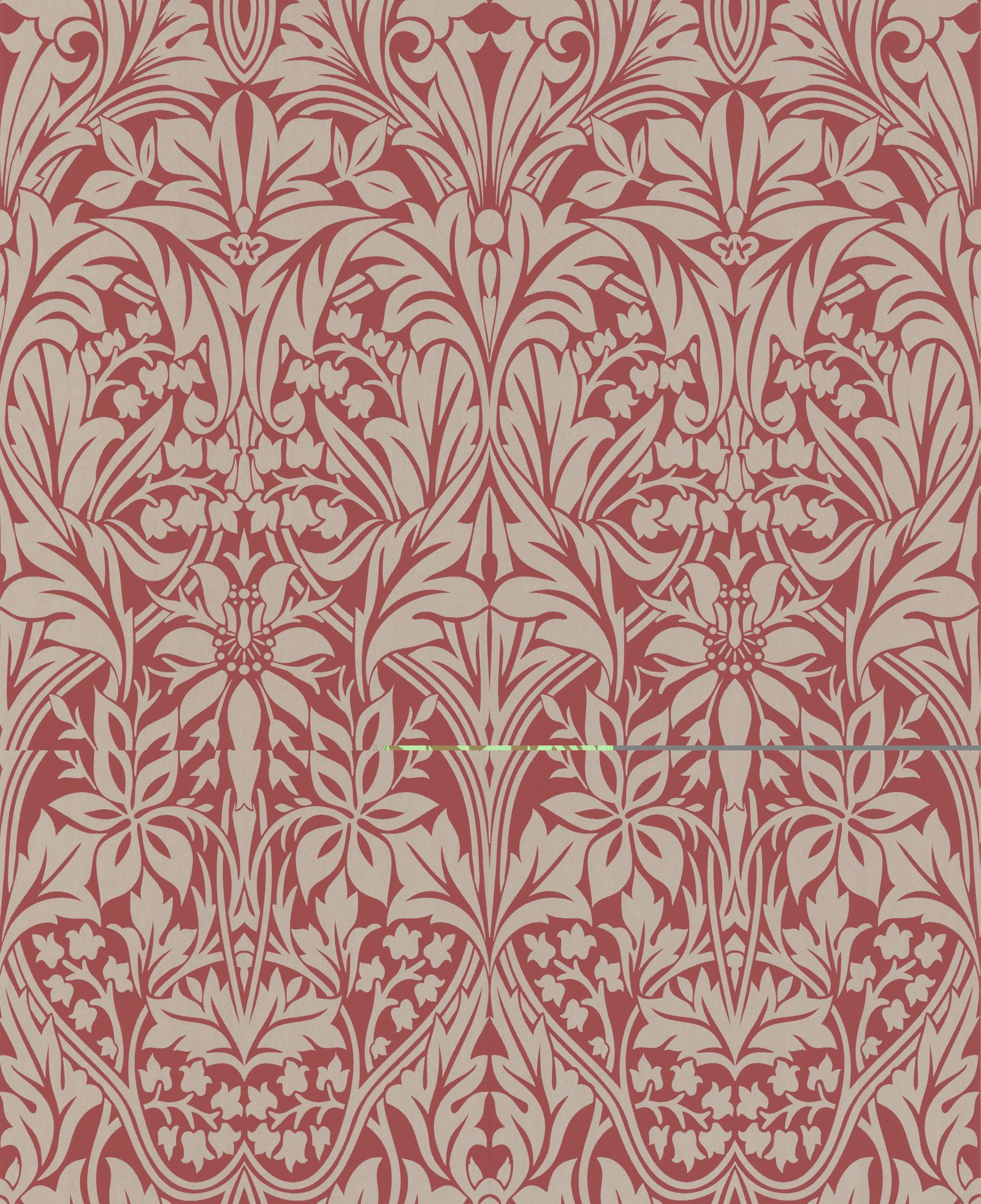 Manor House Red Gold Wallpaper Designer Wallcovering Home