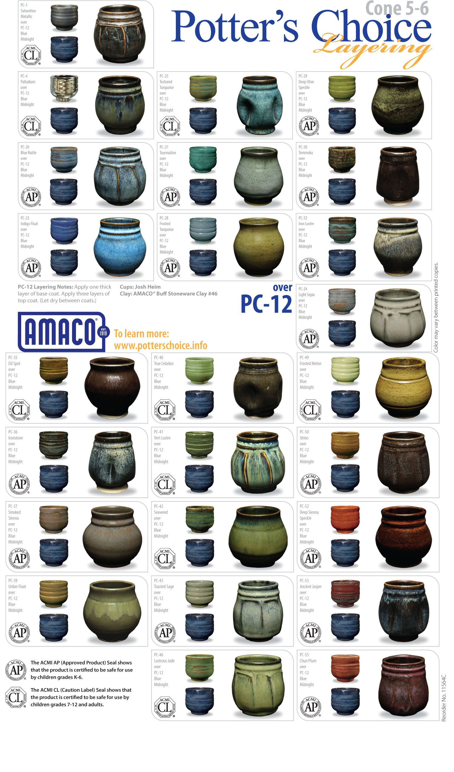 Amaco PC12 Blue Midnight