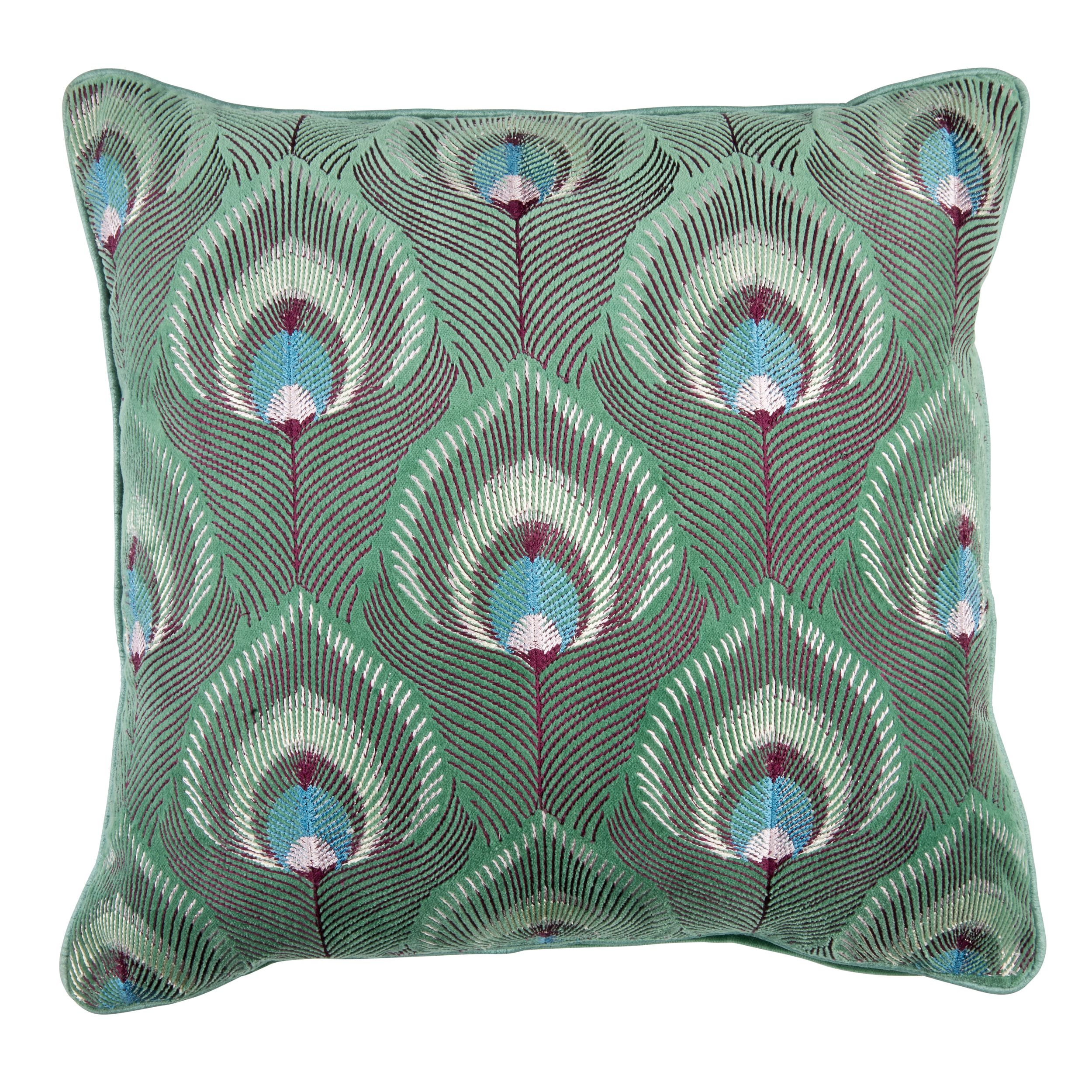 Laura Ashley Ruskin Peacock Marine Cushion #SS16 #ArtsAndCrafts