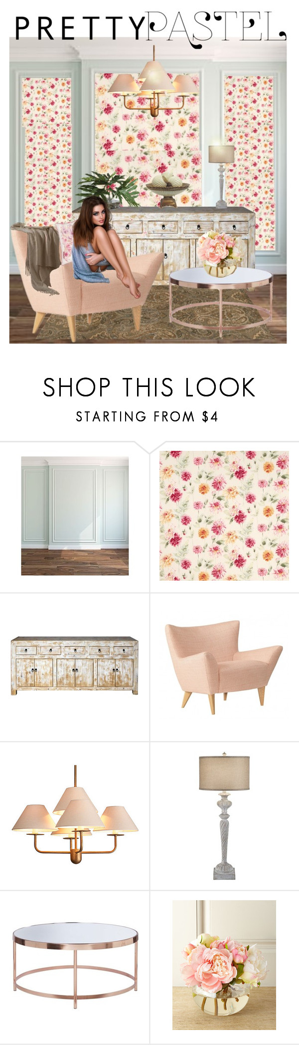 """Pretty Pastels"" by julidrops ❤ liked on Polyvore featuring interior, interiors, interior design, home, home decor, interior decorating, Niermann Weeks, JAlexander, Laura Ashley and John-Richard"