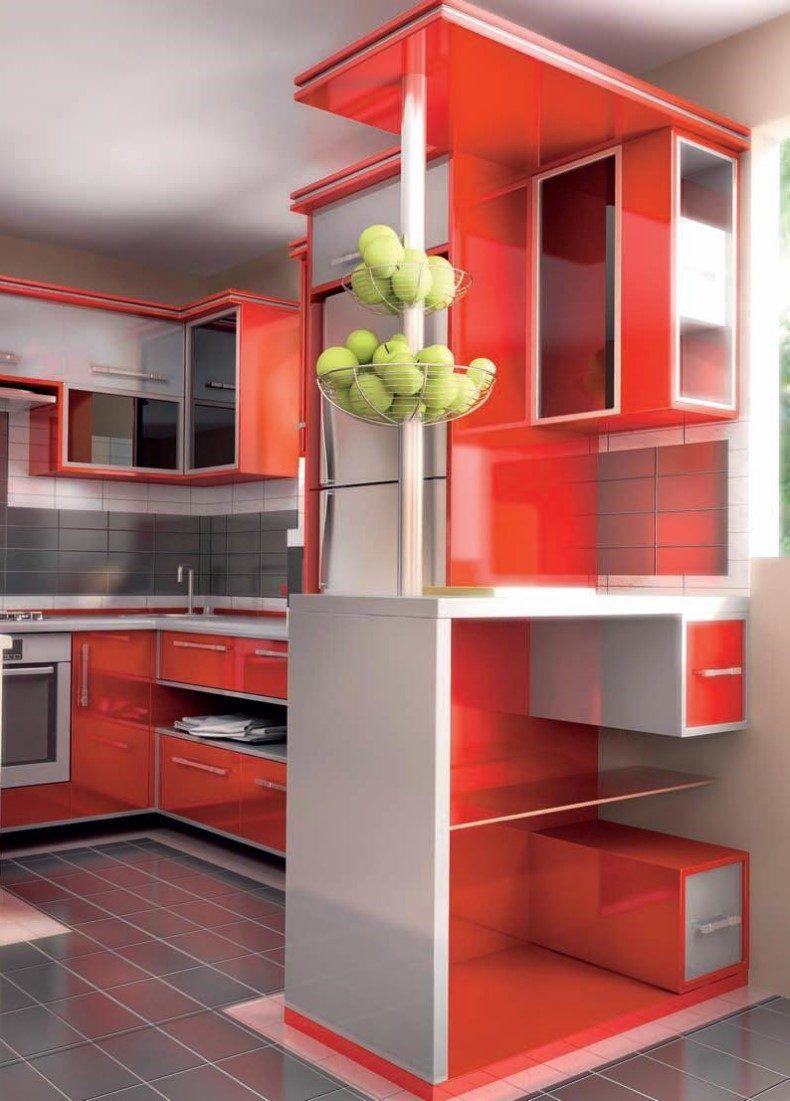 Küchendesign mit minibar red kitchen interior ideas en   uuev dekoru  decoración del
