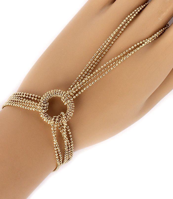 PWB2197 - Ball chain, bracelet and ring set | Hand Bracelet ...