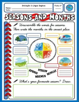 seasons months worksheet dibujos pinterest seasons months worksheets and printable. Black Bedroom Furniture Sets. Home Design Ideas
