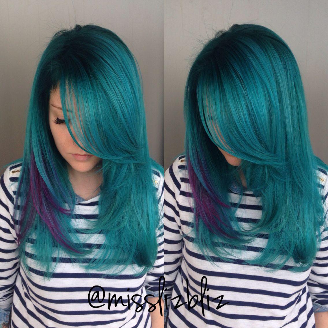 Mermaid hair hair styles pinterest mermaid hair coloring and