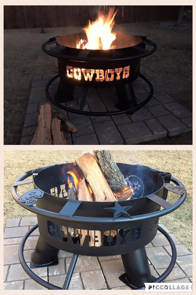 Dallas Cowboys Cowboy Fire Pit Fire Pit Fire Pit Grill