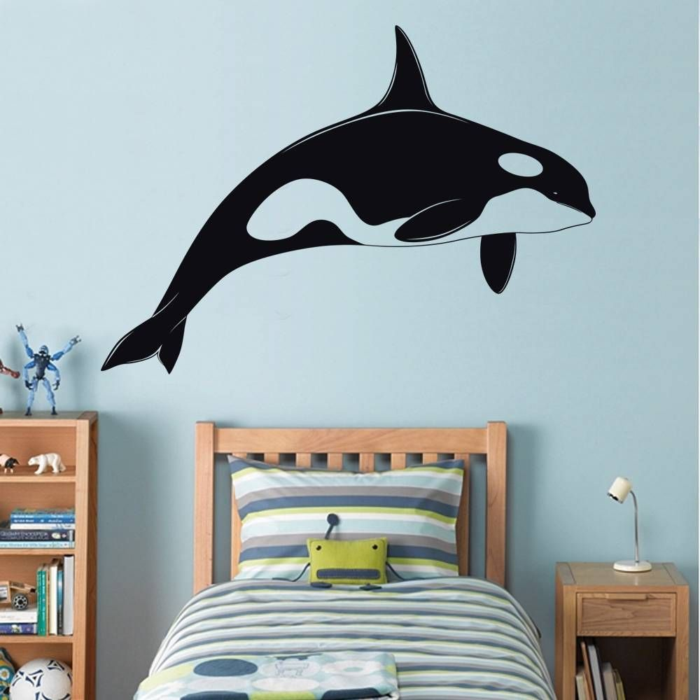 Orca killer whale decal wall sticker art home decor vinyl orca killer whale decal wall sticker art home decor vinyl silhouette shamu st32 amipublicfo Gallery