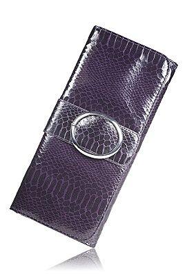 Avenue Faux Snakeskin Clutch, Purple