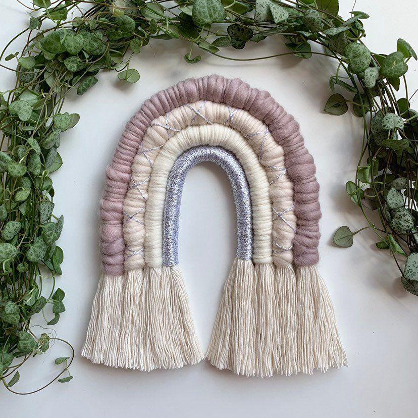heather Macrame Rainbow silver soft Rainbow soft