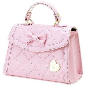Top Most Beautiful Model Handbags. Love the pretty bow with gold heart!  Just lovely ♥ 2ac1af90b5530