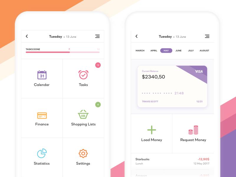 Clean Wallet Application Mobile app design, Messaging