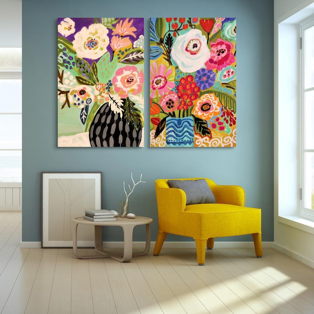 Empire art direct fresh flowers in vase glass wall art