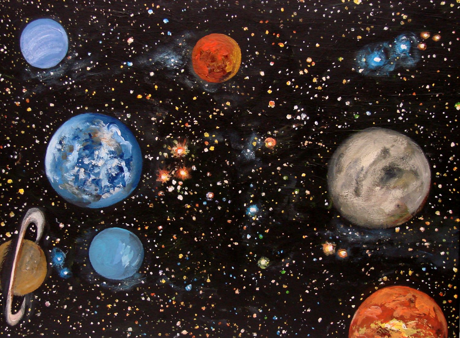 paint in the solar system drawing - photo #6