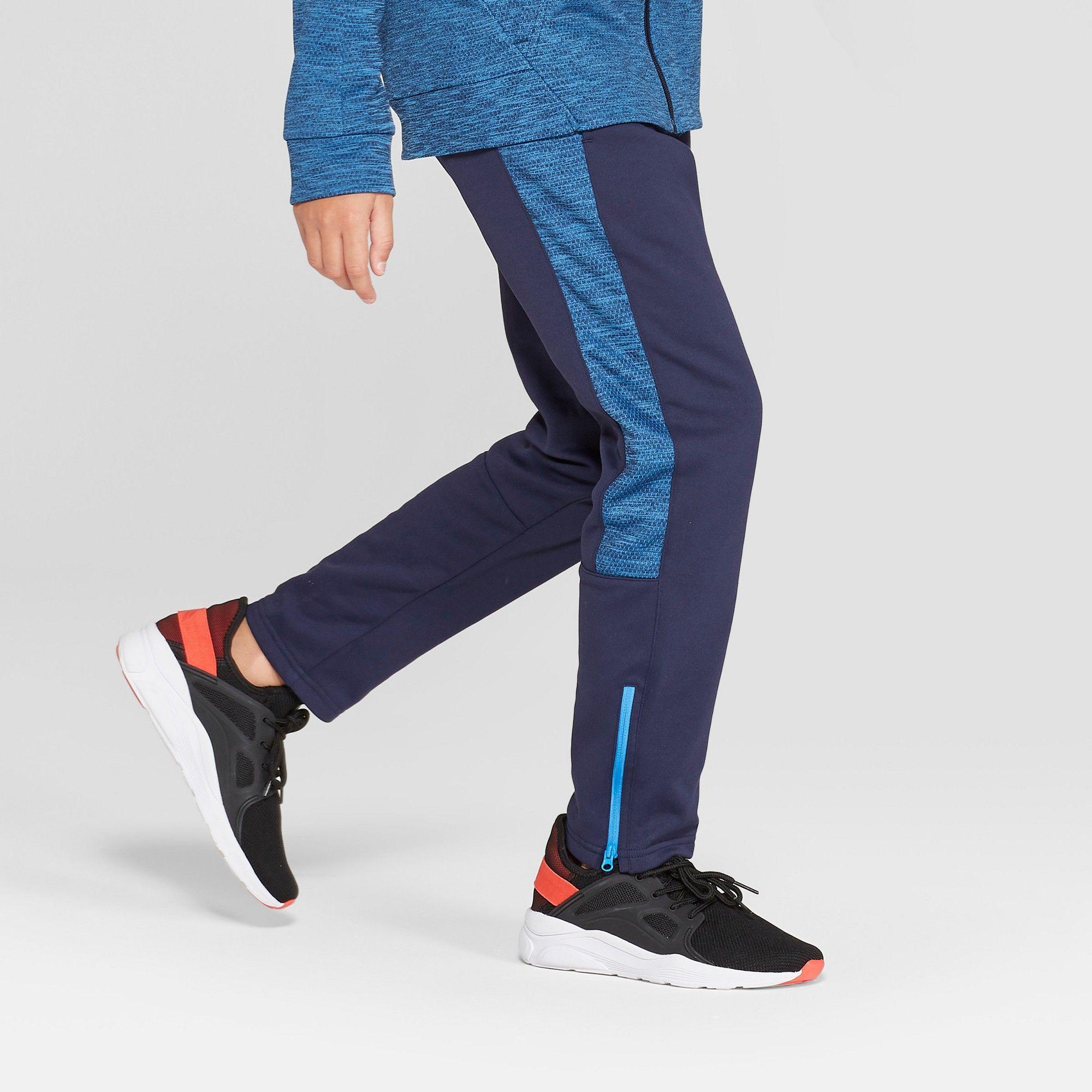36b33e326062 Boys  Textured Tech Fleece Slim Fit Pants - C9 Champion Navy (Blue ...