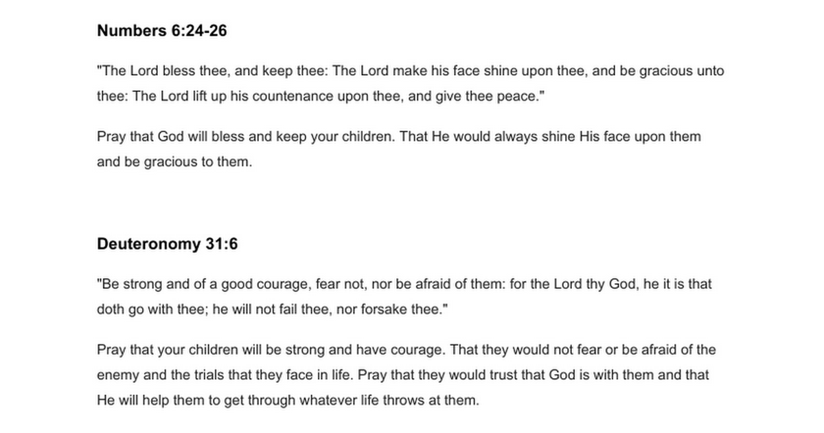 Praying scripture Scripture