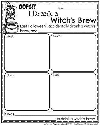 October First Grade Worksheets Halloween writing prompts, Writing - halloween writing ideas