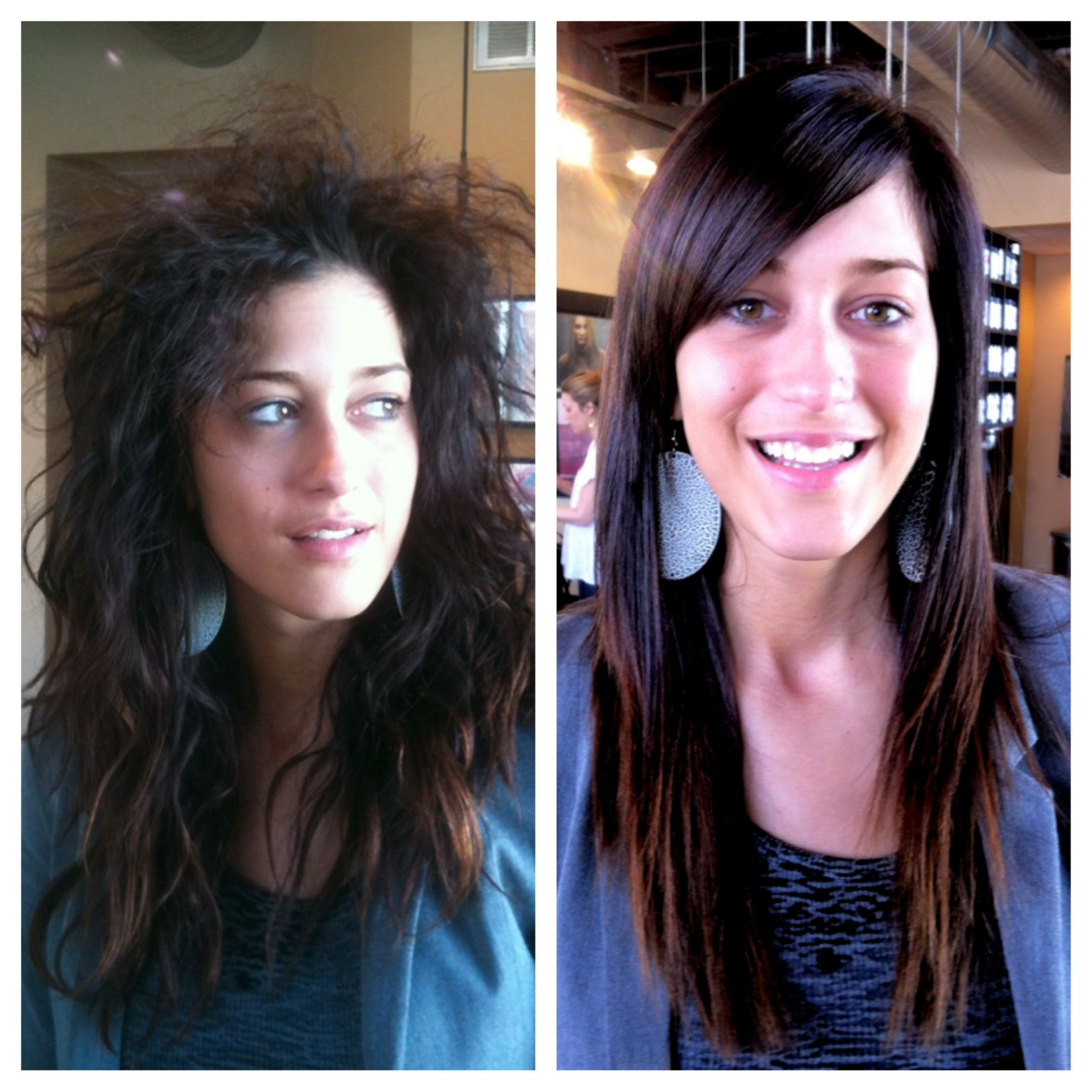 Krystal... Before and After Keratin Complex Blow Out