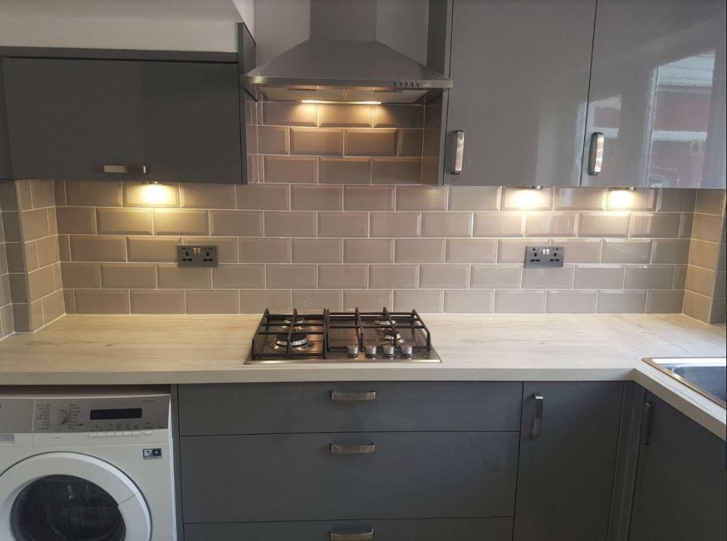 Metro Light Grey Wall Tile Grey Kitchen Tiles