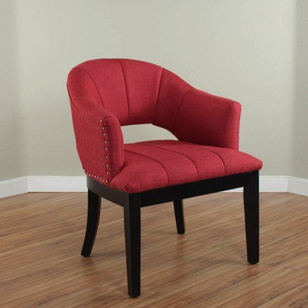 Best Preveza Deep Red Upholstered Chair In 2020 Upholstered 400 x 300