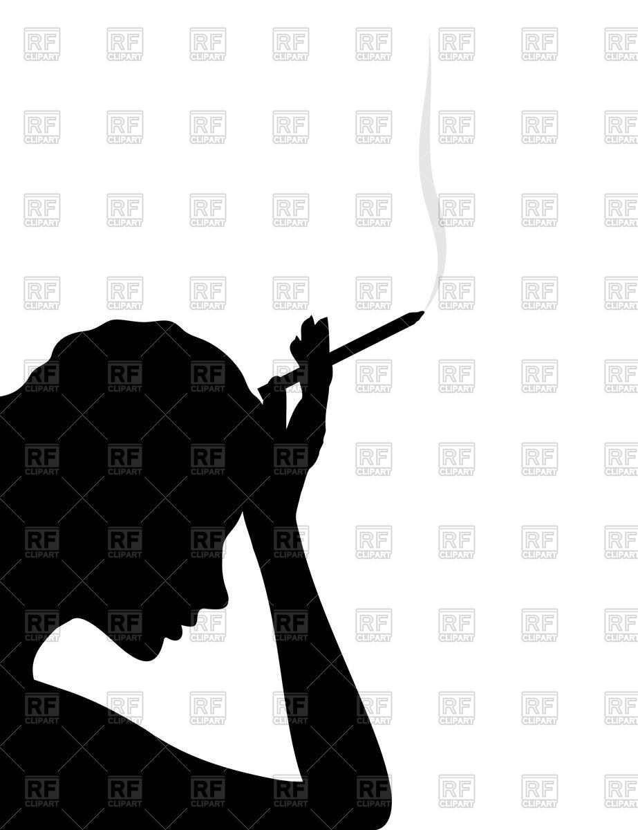 girl thinks and smokes cigarette vector image vector artwork of rh pinterest com  adobe photoshop clipart einfügen