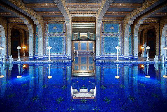 Indoor swimming pool hearst castle hearstcastle socal - Hearst castle neptune pool swim auction ...