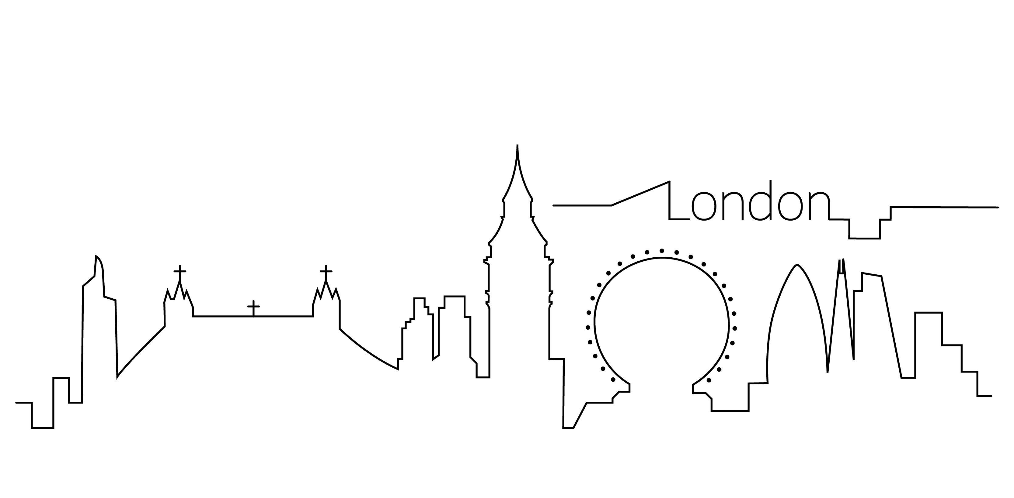 London Skyline Outline City Outline London Skyline Tattoo London Skyline