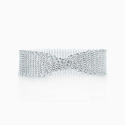 Elsa Peretti Mesh narrow bracelet in sterling silver, extra small Tiffany & Co.