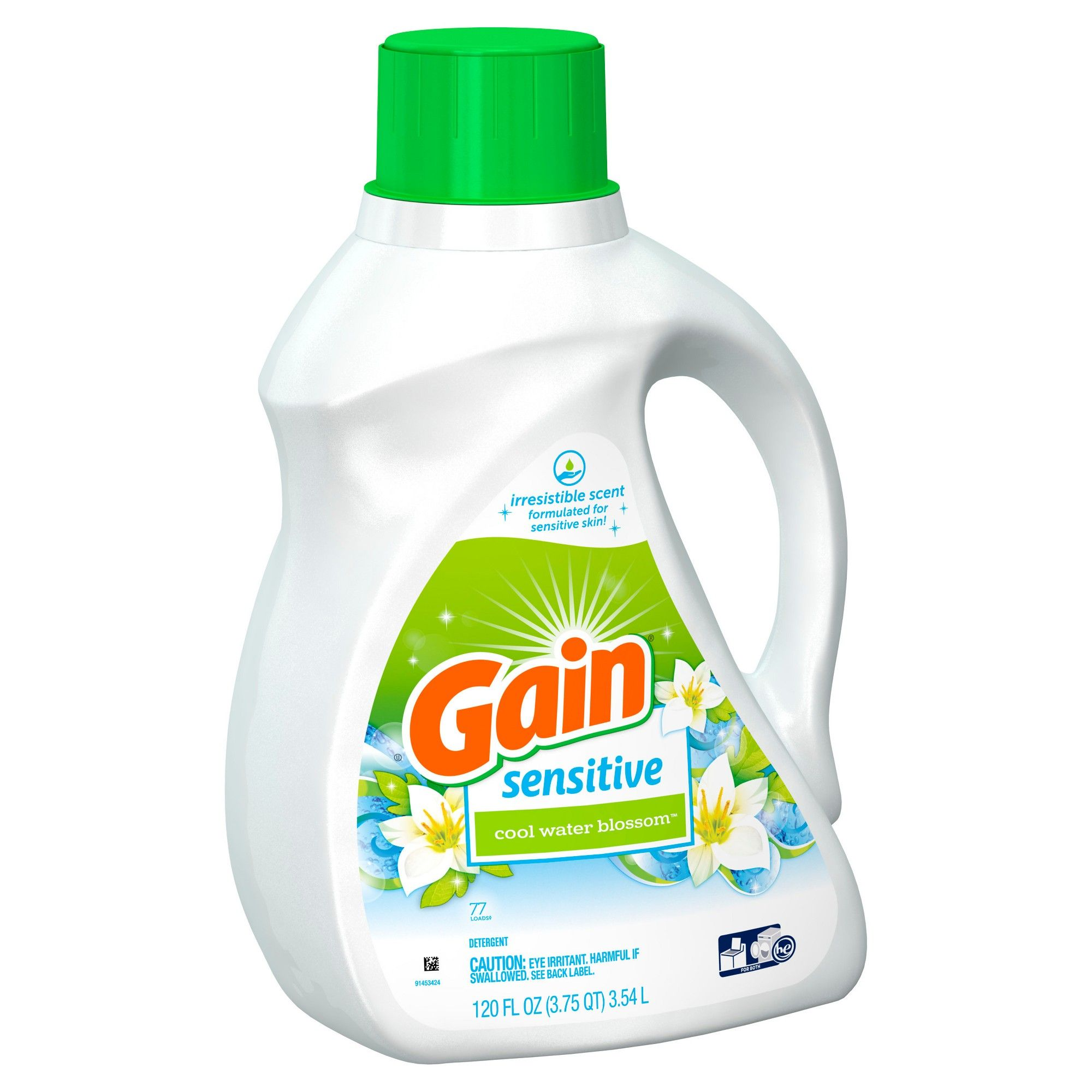 Gain Cool Water Blossom Sensitive Liquid Laundry Detergent 120