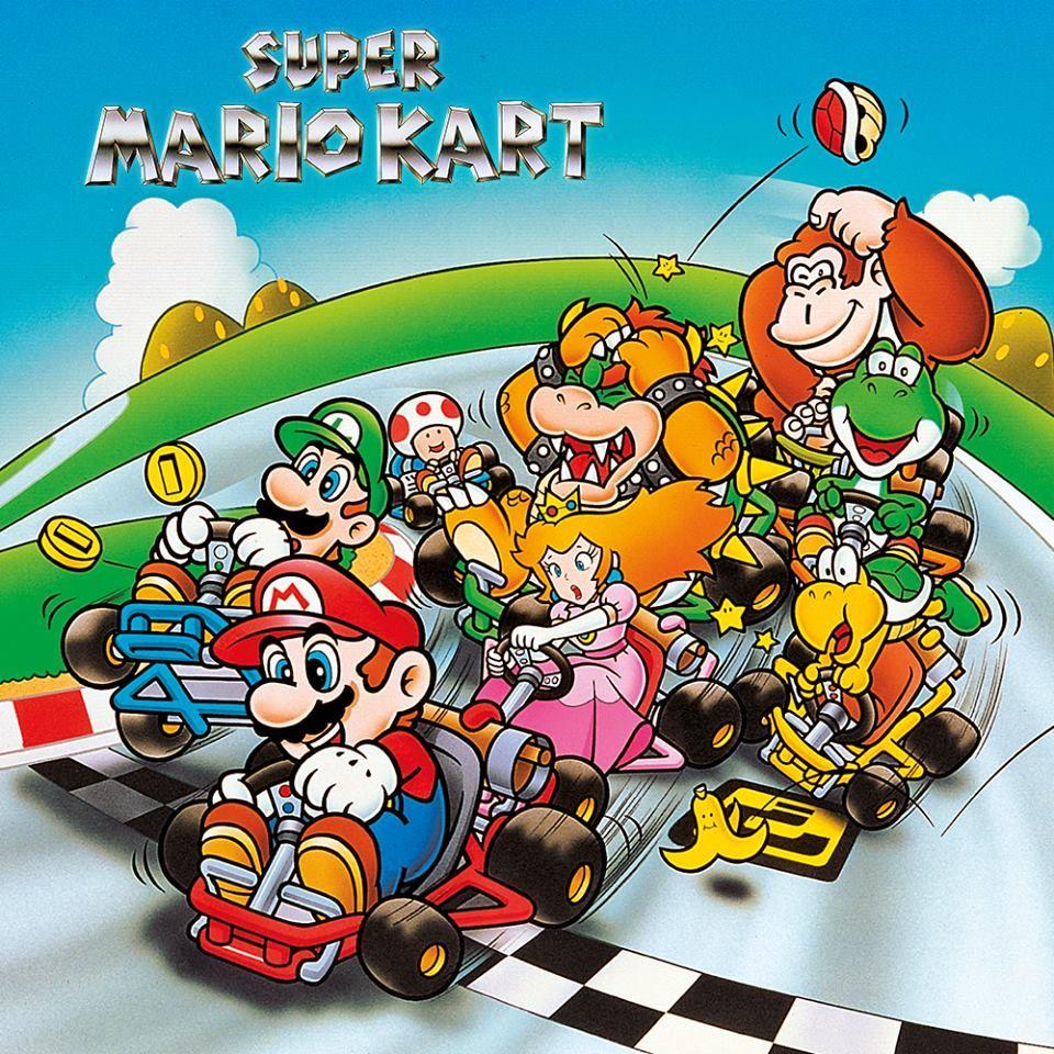 Super Mario Kart 1992 Super Mario Kart Super Mario Art Mario