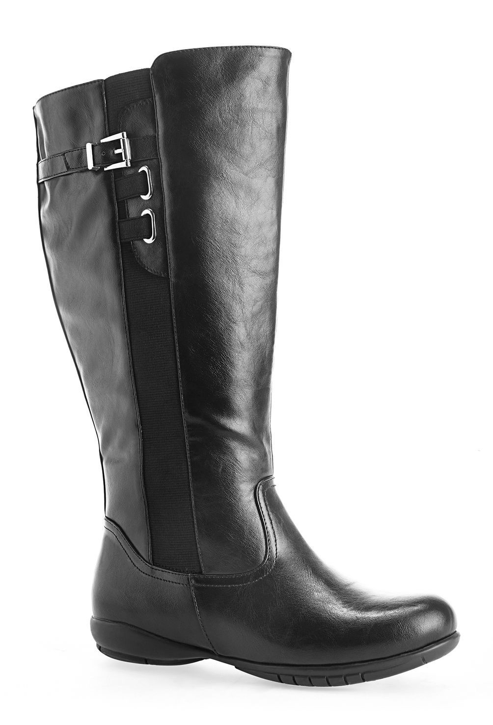 b7d62276585 Mainz Tall Stretch Side Boot-Wide Width Boot-Avenue