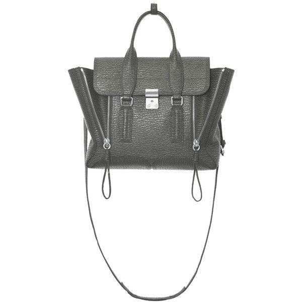3.1 Phillip Lim Storm Pashli Medium Satchel (6,155 CNY) ❤ liked on Polyvore featuring bags, handbags, grey, purse satchel, zipper handbag, handbag satchel, grey handbags and gray handbags
