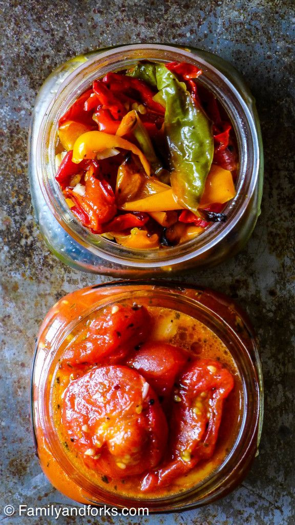FamilyandForks   Jarred Tomatoes and Peppers for a Quick Vegetable Tart   http://www.familyandforks.com