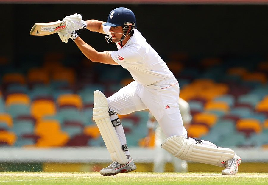 Alaister Cook enroute his double at the Gabba (2010 Ashes)