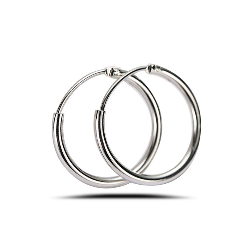 Whole 13mm Small Gold Hoop Earrings For Women Bijoux Summer Round Lady S Silver Fashion Jewelry
