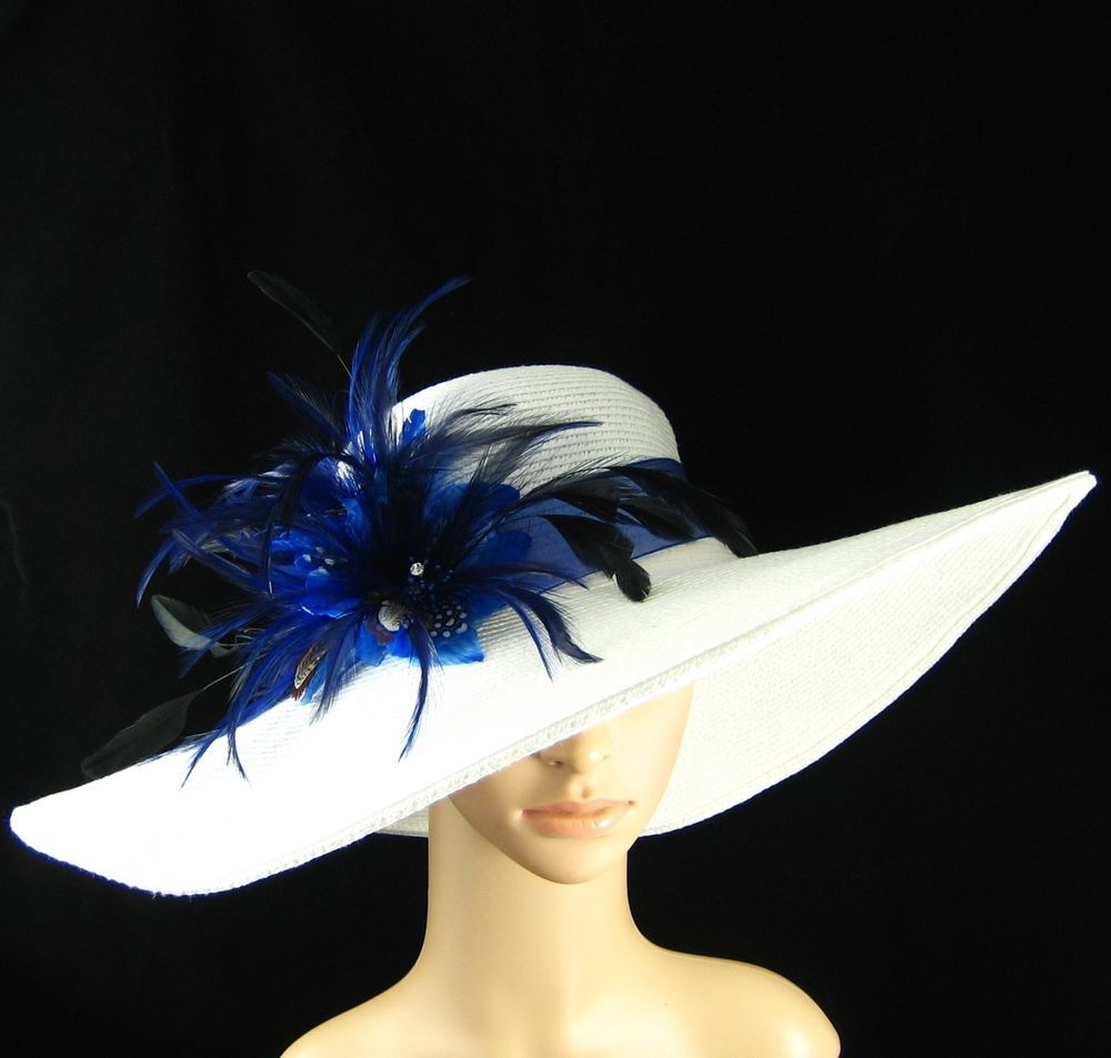 Women S Kentucky Derby Hat White Hat Feathers Dress Wedding Bridal Tea Party Usa In Clothing Shoes Accessories Derby Hats White Derby Hat Kentucky Derby Hat
