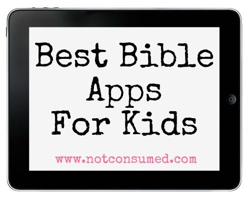 A few of these look really amazing, fun, and purposeful ways to get God's Word in the hearts of kids!  Bible apps for kids.