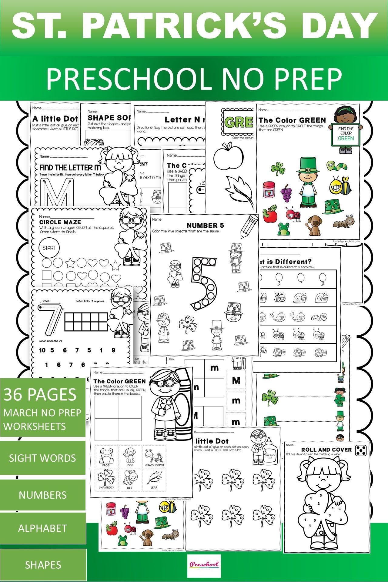March Preschool Packet In