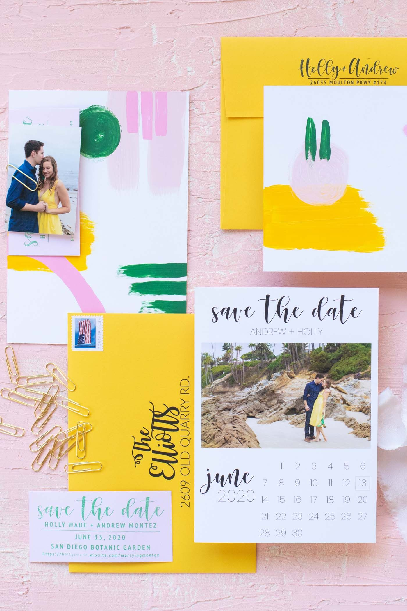 Our diy handpainted save the dates diy save the dates
