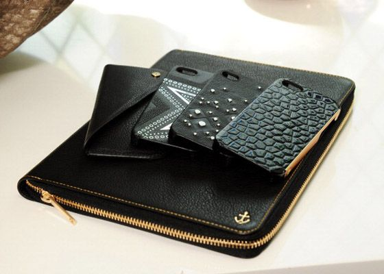 "Kate Moss ""fashion tech"" accessories ... Love Love!! I want these cases && that portfolio!!"
