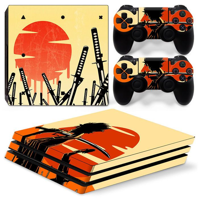Ps4 pro playstation 4 console skin decal sticker gangster design custom set