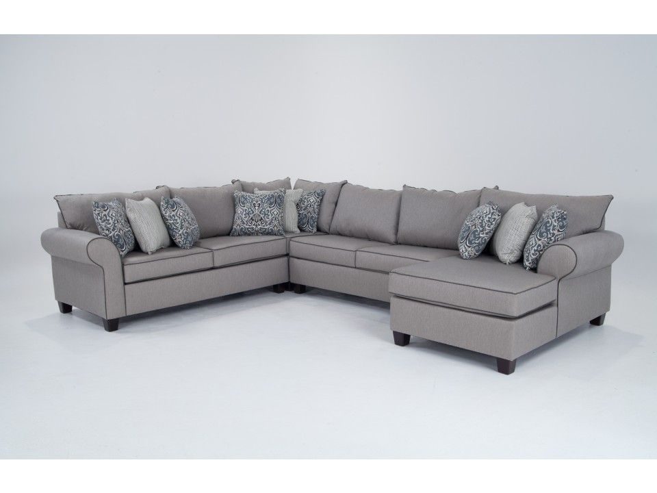 Ashton 4 Piece Left Arm Facing Sectional  sc 1 st  Pinterest : discount furniture sectionals - Sectionals, Sofas & Couches